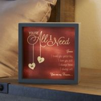 All I Need 6-Inch x 6-Inch LED Light Shadow Box