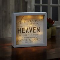 Heaven In Our Home 10-Inch x 10-Inch LED Light Shadow Box