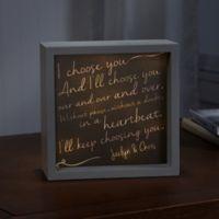 I Choose You 10-Inch x 10-Inch LED Light Shadow Box
