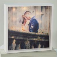 Wedding Photo 10-Inch x 10-Inch LED Light Shadow Box