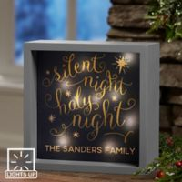 Silent Night 6-Inch x 6-Inch LED Light Shadow Box