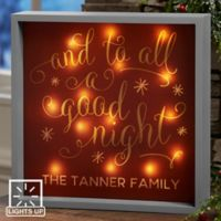 Silent Night 10-Inch x 10-Inch LED Light Shadow Box