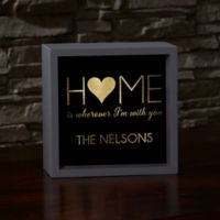 Home With You 10-Inch x 10-Inch LED Light Shadow Box