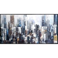 Art City Silhouettes 30.5-Inch x 59.75-Inch Canvas Wall Art