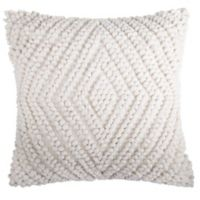 Chenille Diamond Square Throw Pillow in Ivory