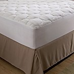 Bedding Essentials™ Microfiber Queen Mattress Pad in White