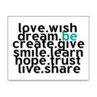 Love Wish Wall Art in White