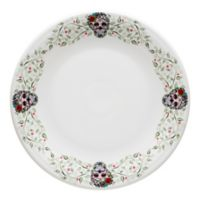 Fiesta® Halloween Sugar Skull Chop Plate in White with Floral Vine Border