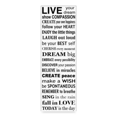 Dream Wall Art buy dream wall decor from bed bath & beyond