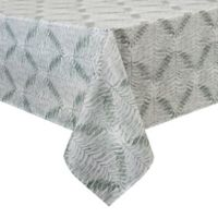 Basics Fabia Printed 70-Inch Square Tablecloth in Sage