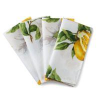 Basics Lemon Printed Napkins (Set of 4)
