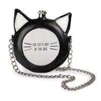 Crazy Cat 10 oz. Round Flask