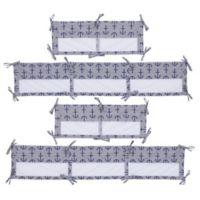 Nautica Kids® Set Sail 4-Piece Secure-Me Mesh Crib Liner