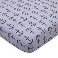 Nautica Kids® Set Sail Anchor Print Fitted Crib Sheet