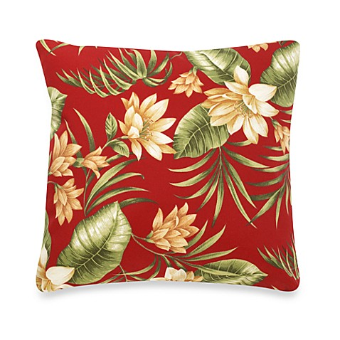 Indoor/Outdoor Knife Edge Throw Pillow in Siesta Key/Pompeii