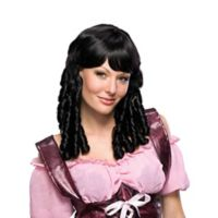 Baby Doll Adult Halloween Wig in Black