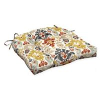 Arden Selections™ Kenda Ikat Outdoor Wicker Seat Cushion in Cream/Topaz