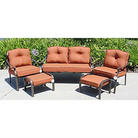 Solarium® 9 Piece Cushion Set In Cinnamon