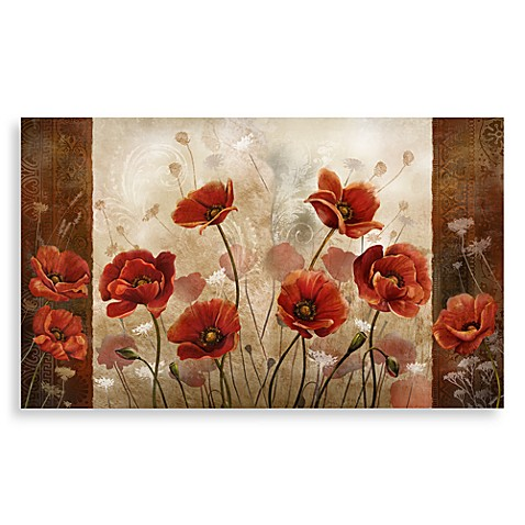 home dynamix calm chef poppies floor mat - bed bath & beyond