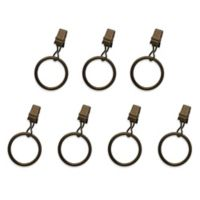 The Farmhouse Collection Cambridge Clip Rings in Antique Bronze (Set of 7)