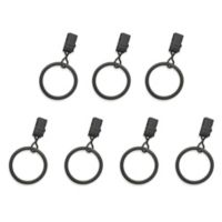 The Farmhouse Collection Chelsea Clip Rings in Distressed Grey (Set of 7)