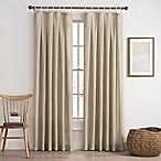 Cassora 84-Inch Skinny Tab Window Curtain Panel in Linen