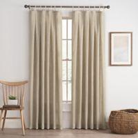 Cassora 108-Inch Skinny Tab Window Curtain Panel in Linen
