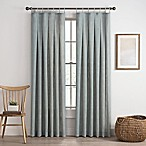 Cassora 84-Inch Skinny Tab Window Curtain Panel in Seaglass