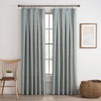 Cassora 108-Inch Skinny Tab Window Curtain Panel in Seaglass