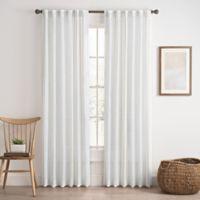 Cassora 95-Inch Rod Pocket/Back Tab Stripe Window Curtain Panel in Linen