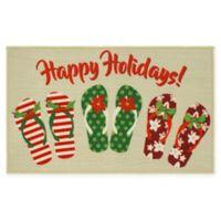 """Holiday Flip Flop 18"""" x 30"""" Kitchen Rug"""