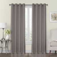 Monroe 50-Inch x 95-Inch Lined and Interlined Grommet Top Window Curtain Panel in Gray