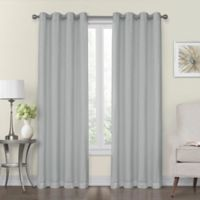 Monroe 50-Inch x 95-Inch Lined and Interlined Grommet Top Window Curtain Panel in Blue