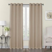 Monroe 50-Inch x 63-Inch Lined and Interlined Grommet Top Window Curtain Panel in Linen
