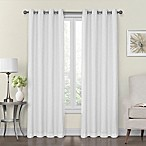 Monroe 50-Inch x 84-Inch Lined and Interlined Grommet Top Window Curtain Panel in White