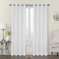 Monroe 50-Inch x 95-Inch Lined and Interlined Grommet Top Window Curtain Panel in White