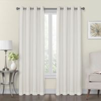 Monroe 50-Inch x 95-Inch Lined and Interlined Grommet Top Window Curtain Panel in Ivory