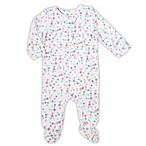 aden® by aden + anais® Size 3-6M Floral Footed Coverall in White