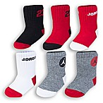 Nike® 6-12M 6-Pack Jordan Socks in Red/Grey