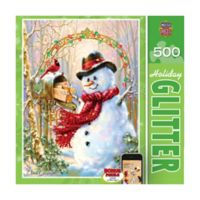 Masterpieces Puzzles 500-Piece Letters to Frosty Holiday Glitter Puzzle