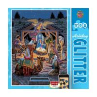 Masterpieces Puzzles Holiday Glitter 500-Piece Holy Night Puzzle