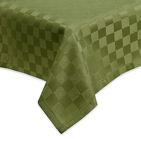 Luxury Essentials Modern Table Square 90-Inch x 90-Inch Tablecloth in Olive (Set of 6)