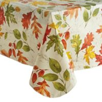 Autumnal Breeze 60-Inch x 102-Inch Oblong Vinyl Tablecloth