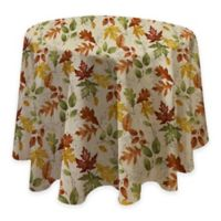 Autumnal Breeze 70-Inch Round Vinyl Tablecloth