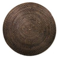 Natural Rattan Placemat in Walnut