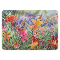 "FoFlor Lilies 23"" x 36"" Kitchen Mat in Yellow"