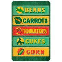 "FoFlor Farm Stand Sign Board 23"" x 36"" Kitchen Mat in Green"