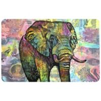 "FoFlor Elephant Torn 23"" x 36"" Kitchen Mat in Grey"