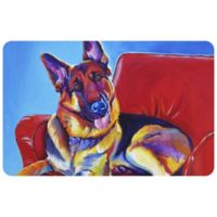 "FoFlor Zeke 23"" x 36"" Kitchen Mat in Red"
