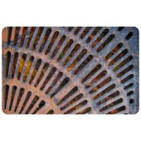 "FoFlor Old Montreal Metal Grate 23"" x 36"" Kitchen Mat in Grey"
